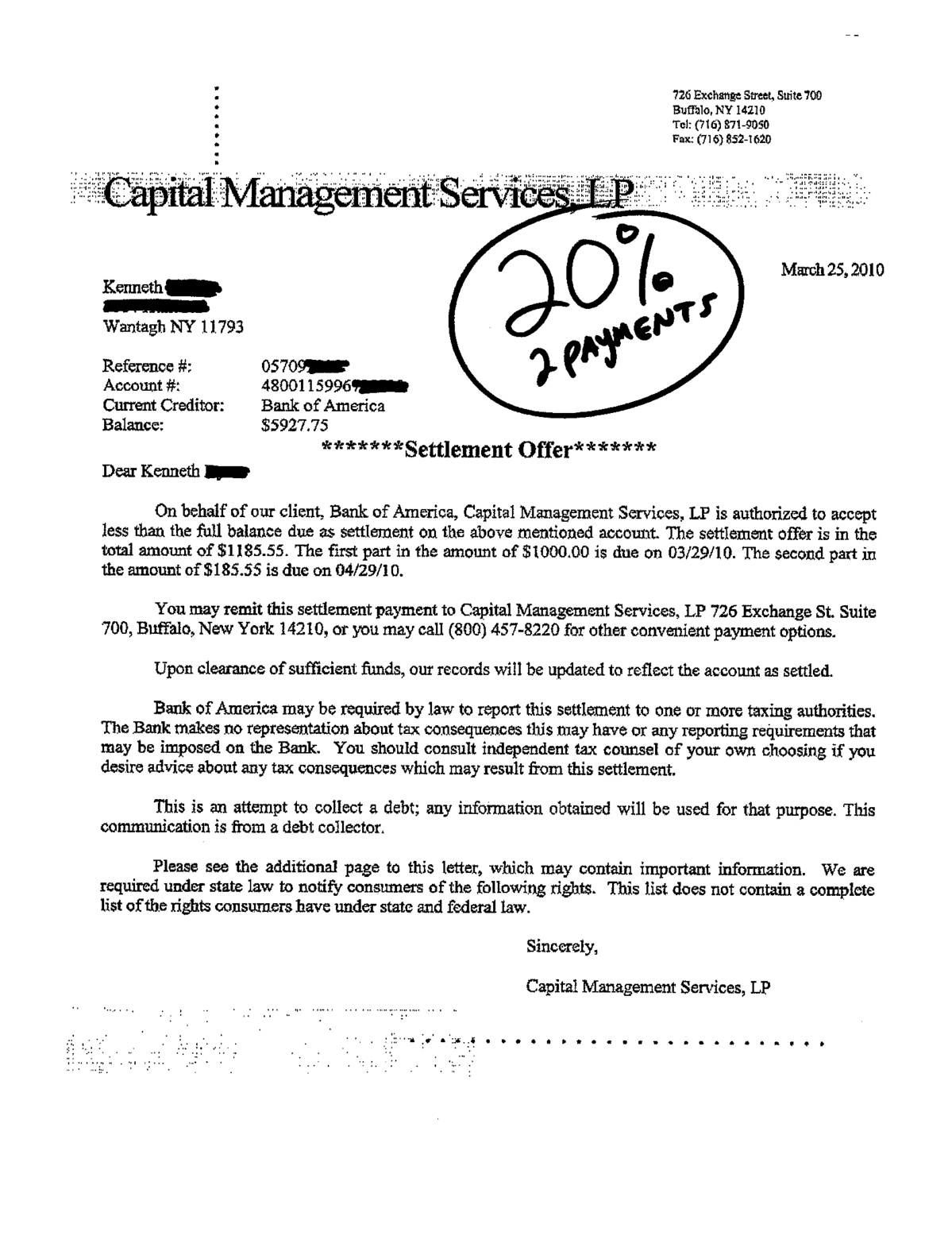Sle Letter Of Debt Agreement   Images  Debt Settlement Letter