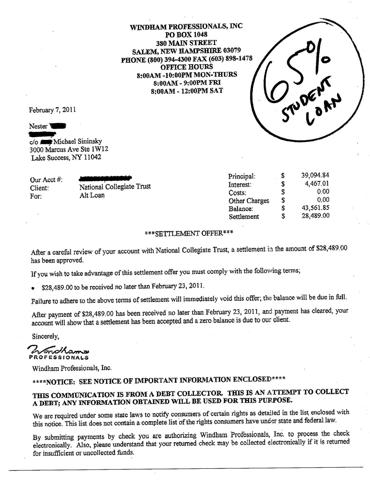 Payday loan settlement letter Fast cash auto loans az